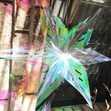 Iridescent Holographic Stars Hanging Decoration