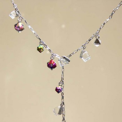 Asymmetry Crystal Necklace