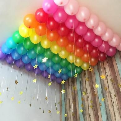 Gradient Balloon Set with Golden Stars