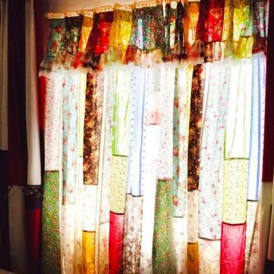 Handmade Rose Garden Patchwork Curtain