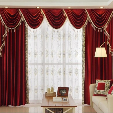 Swag Tails Valance Curtain Set