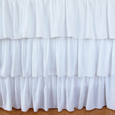 White Tiered Ruffle Bed Skirt