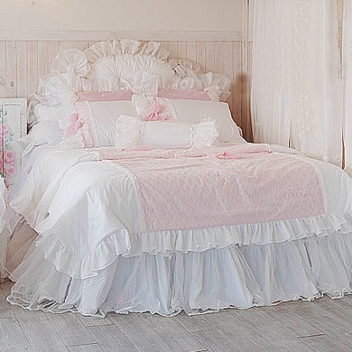 Frances Lace Duvet Cover Set