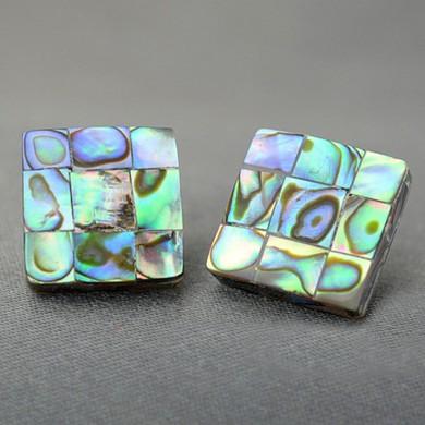 Mosaic Seashell Handmade Earring