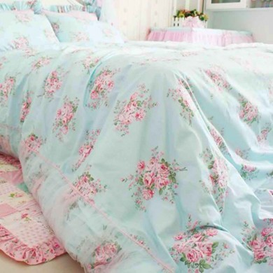 Shabby Rose Bedding Set