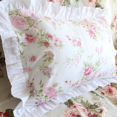 White Romance Pillow Sham