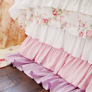 Tiered Ombre Ruffle Bed Skirt
