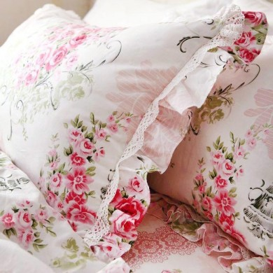 Victorian Pink Rose Duvet Cover Set