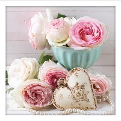 Vintage Shabby Vintage Roses Print Set- A