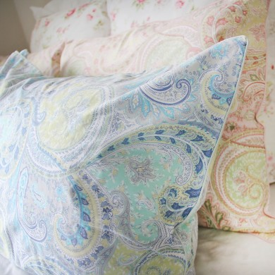 Blue Paisley Egyptian Cotton Duvet Cover Set
