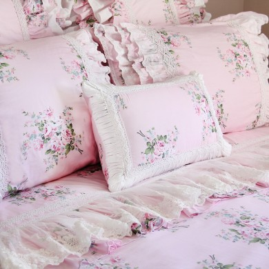 Pink Roses Decorative Cushion Cover