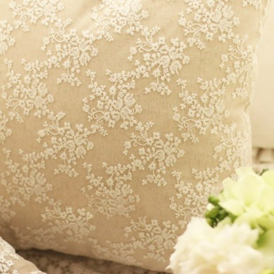 Embroidery Lace Parisian Cushion Cover