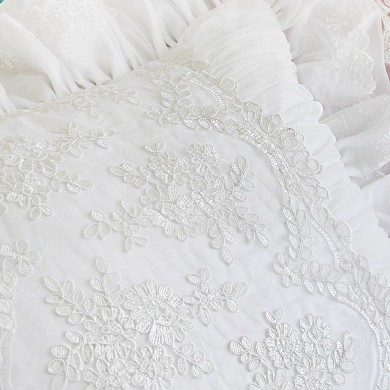 Romantic White Pillow Sham