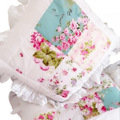 Rose Floral Patchwork Shabby Chic Duvet Cover