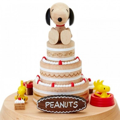 Snoopy Woodstock Birthday Cake Music Box