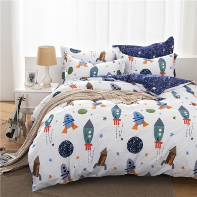 Space Travel Rocket Star Duvet Cover Set