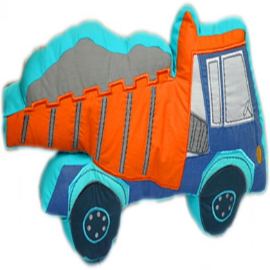 Contruction Dump Truck 3D Pillow