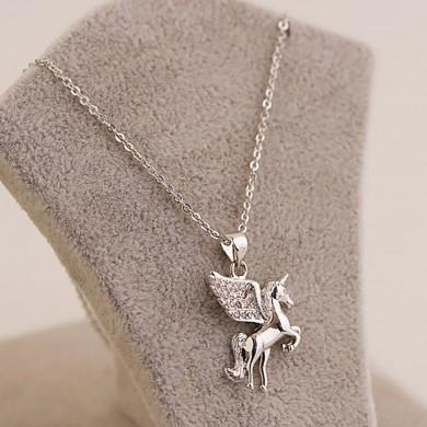 Unicorn Necklace Earrings Set