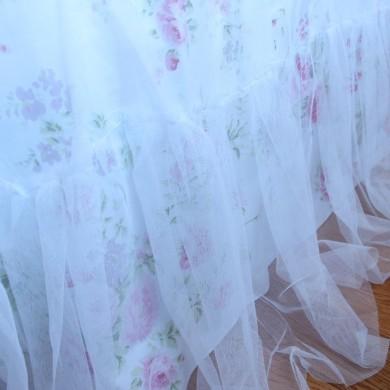 White Romance Bedskirt