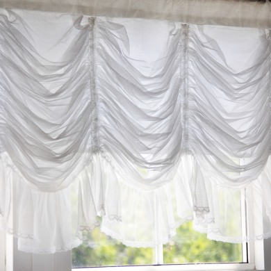 Luxury Ruched Valance, White