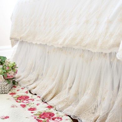 Luxury Lace Love Wrap-Around Bed Skirt