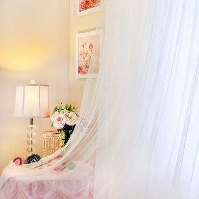 White Simply Elegant Rose Lace Panel