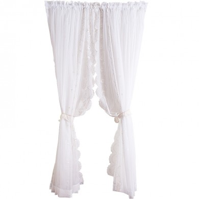 White Victorian Lace Curtain Set