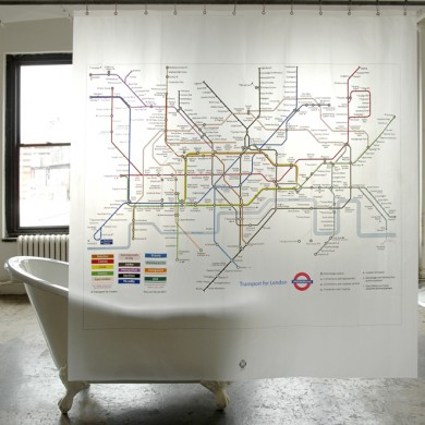 London Underground Subway Map Shower Curtain