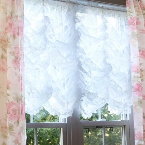 Damask Balloon Lace Curtain