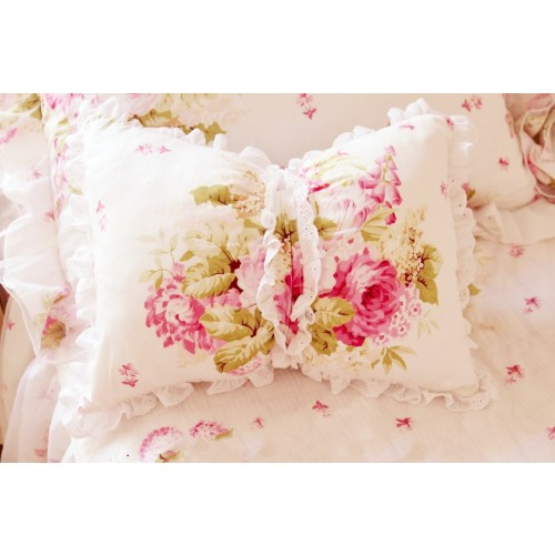 Victorian Bolster Pillows : ruffle pillow