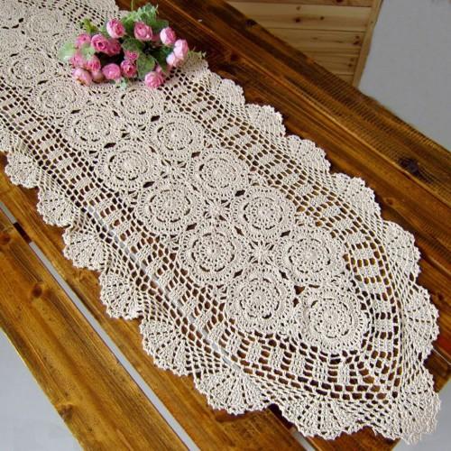 crochet table runner 3 Outdoor Rectangular Coffee Table Cover