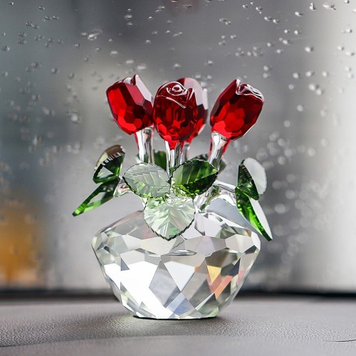 Crystal Glass Roses