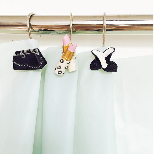 Dressed To Thrill Shower Curtain Hooks
