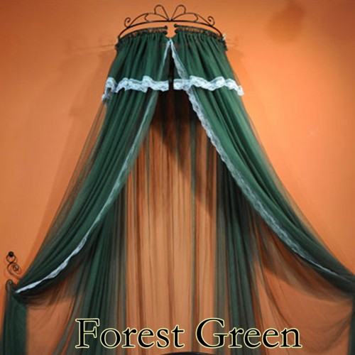 Green Canopy Decor: Bed Curtain