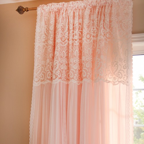 Pink And White Curtains