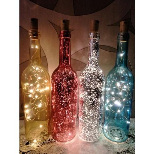 Glass Wine Bottle Table Lamp Night Light