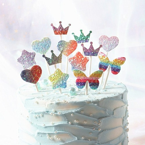 Glitter Cake Banner