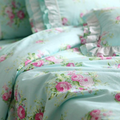 Pink Coupon Code >> green rose bedding set