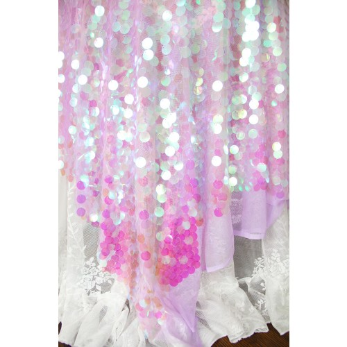 sequin fabric Iridescent Holographic Fabric