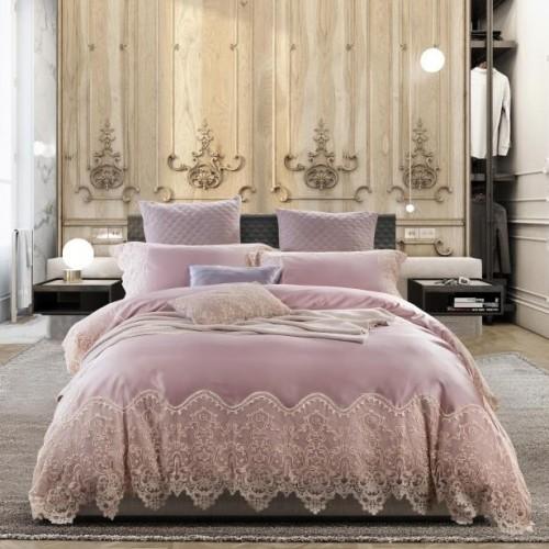 Paris Lace Egyptian Cotton Duvet Cover Set