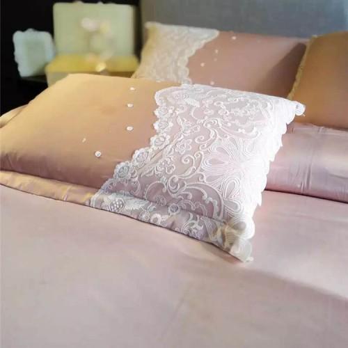 Paris Pink Lace Egyptian Cotton Duvet Cover Set