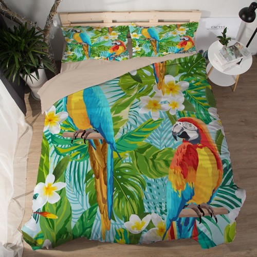 Parrot Duvet Cover Set Bedding