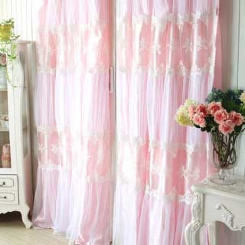 Pink Paris Dream Curtain Set Curtain Panel Curtain