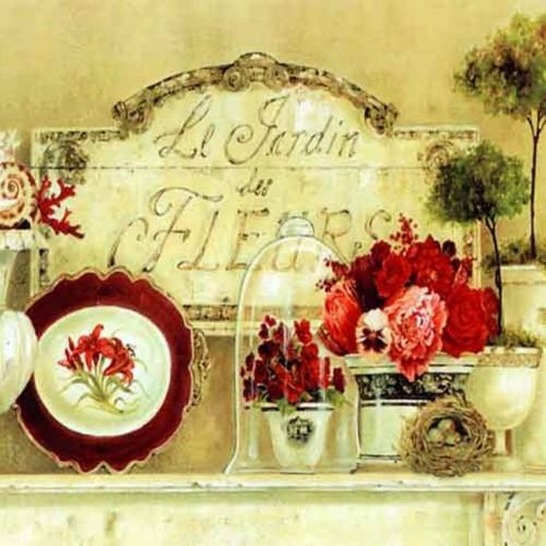 Le Jardin Des Fleurs Canvas Print