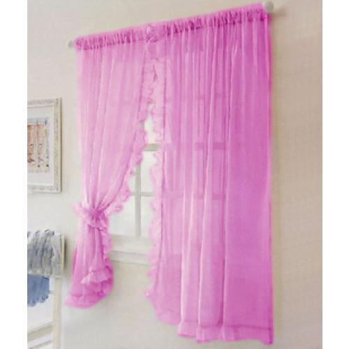 Ruffle Chic Sheer Curtain Set