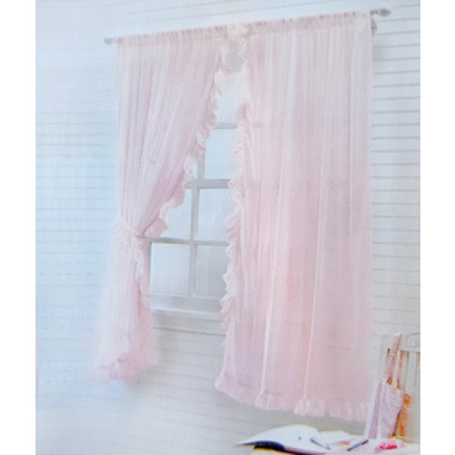 Ruffle Chic Sheer Curtain Set