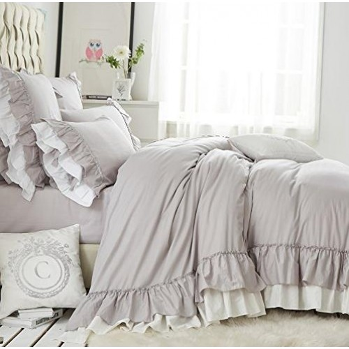 Grey White Duvet
