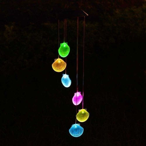 Solar Glow Sea Shell Lawn Night Light