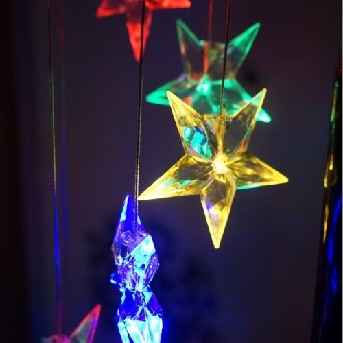 Solar Led Night Light Glow Rainbow Stars