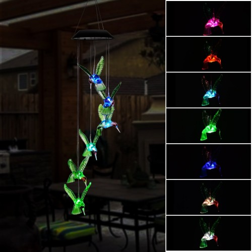 Solar Led Night Light Hummingbird